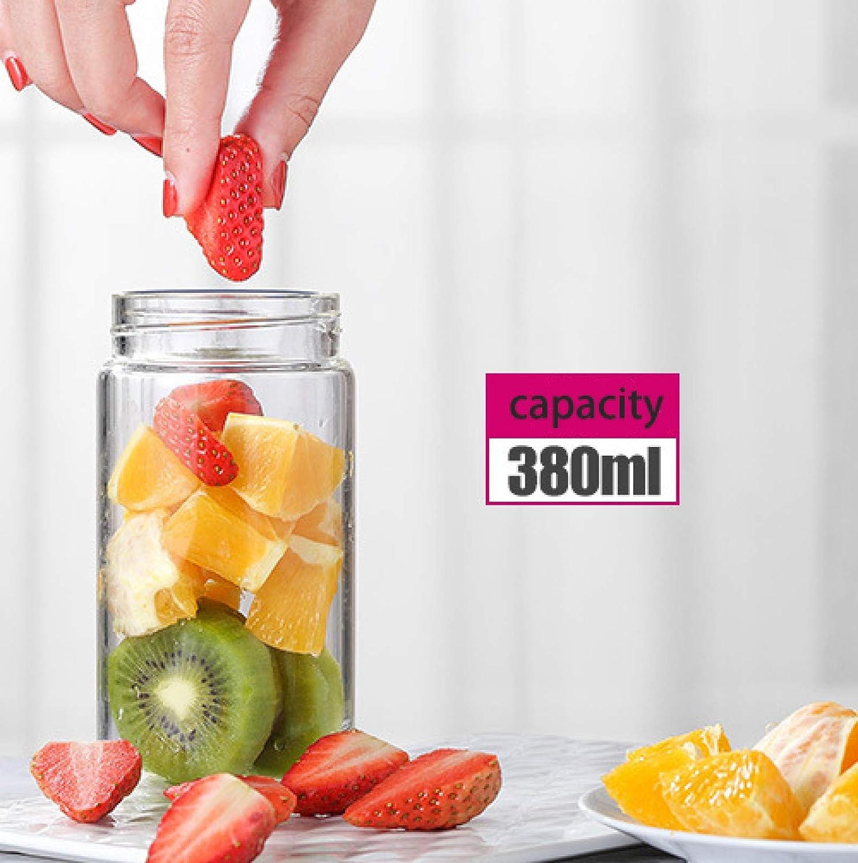 Juicer 400 ml Huishoudelijke Sap Blender Rvs 6 Blad Mes Draagbare Gaopeng Silicium Glas Body Oplaadbare Juicer Extractor Roze roze