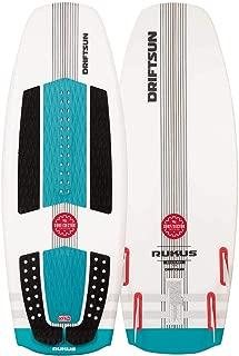 Driftsun Rukus Wakesurf Board, 4ft. 6in. Custom Surf Style Wakesurfer for Intermediate to Advanced Riders
