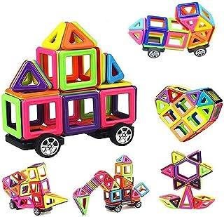 76 PCS Mini Magnetic Tiles Building Blocks Set, DIY Creative STEM Building Block Preschool Educational Construction Kit 3D...