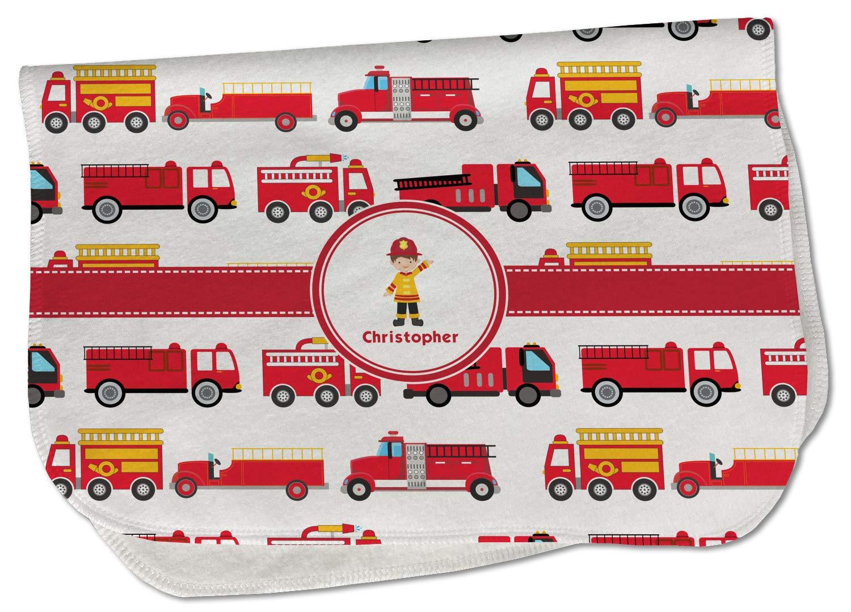 Firetrucks Burp Cloth - Max 61% OFF Fleece Text Name w or Save money