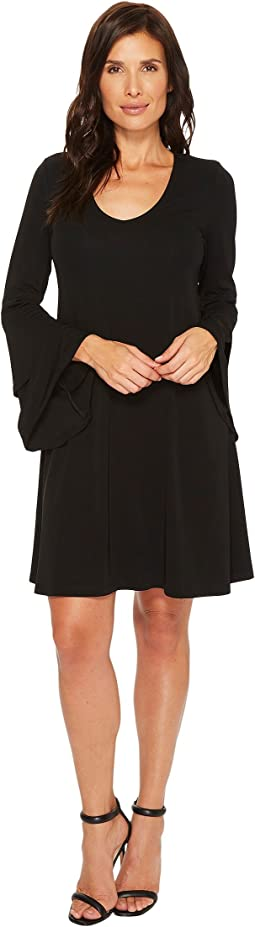 Karen Kane Tiered Bell Sleeve Dress