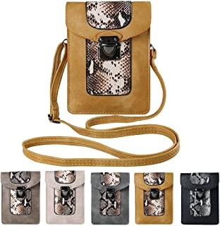 Vertical Crossbody Wallet Case for ZTE Blade A2 Plus, A813, A910, Warp 7, ZMax Pro, Sonata 3, Nubia N1, Z11, Axon 7, Grand X Max 2, Imperial Max with Vangoddy Stereo Earphone, Apricot