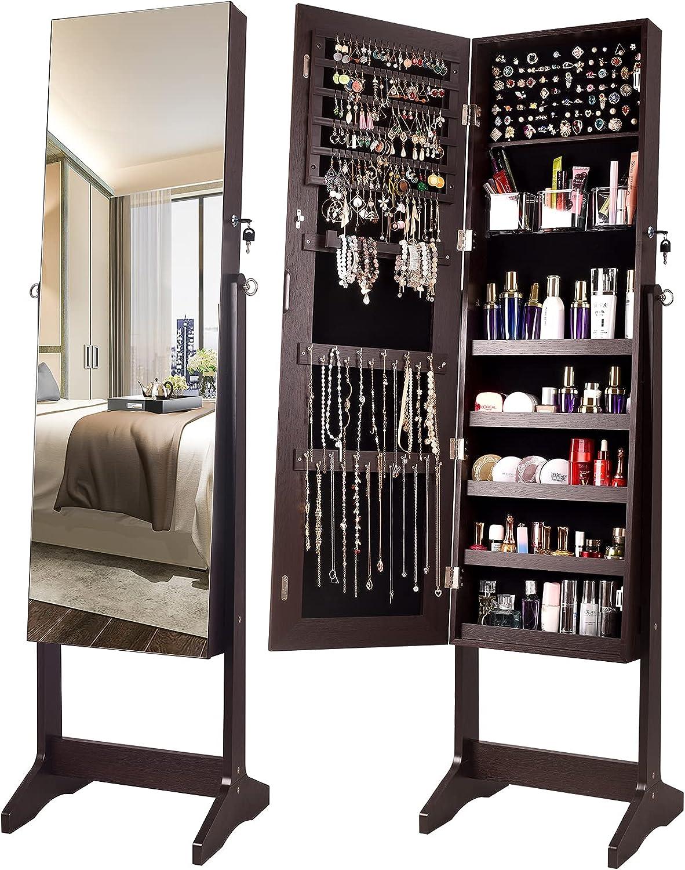 全品送料無料 YOKUKINA Jewelry Cabinet Armoire Storage Lockable Organiz スーパーセール期間限定 Large