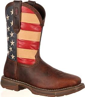 steel toe american flag boots