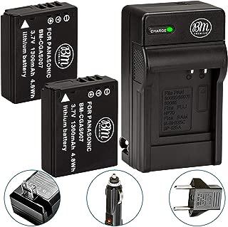 BM Premium 2-Pack of CGA-S007 Batteries and Battery Charger for Panasonic DMC-TZ1, DMC-TZ2, DMC-TZ3, DMC-TZ4, DMC-TZ5, DMC-TZ11, DMC-TZ15, DMC-TZ50 Digital Camera