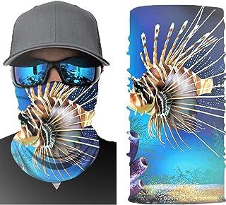 Bandana Lionfish 3D Graphic Design Seamless Face Mask Dusk Mask Athetic Mask Reusable Bandana for Men Bandana for Women