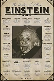 Pyramid America Wisdom of Albert Einstein Famous Quotes Laminated Dry Erase Sign Poster 12x18
