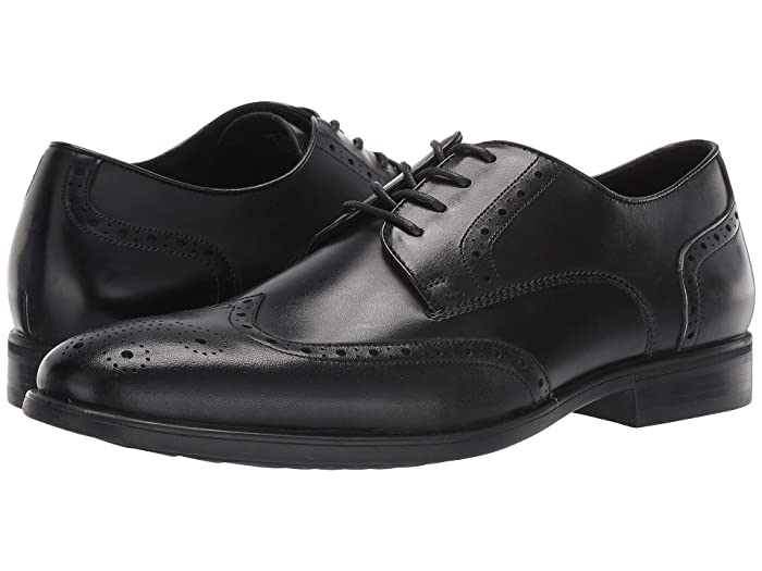 1950s Men's Clothing Kenneth Cole Reaction Edge Flex Lace-Up WT Black Mens Shoes $135.00 AT vintagedancer.com