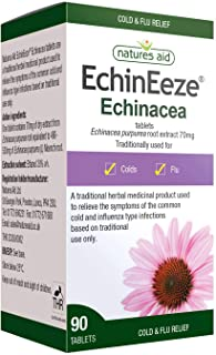 Natures Aid EchinEeze 70mg (Equivalent 460mg-530mg of Echinacea) - Pack of 90 Tablets