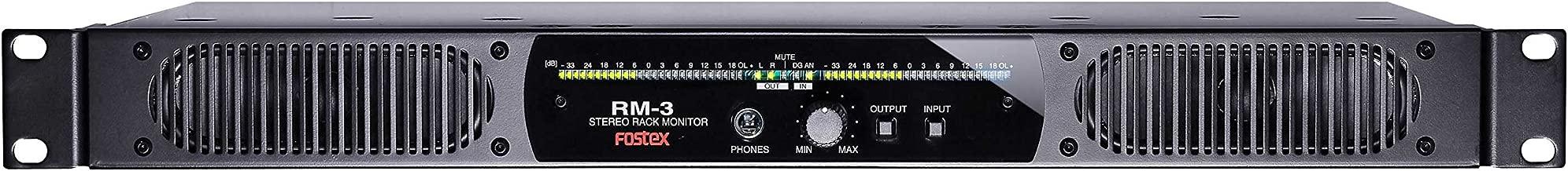 Fostex 1U Rack Mount Speaker System 10W D-Class Amplifier (RM3)