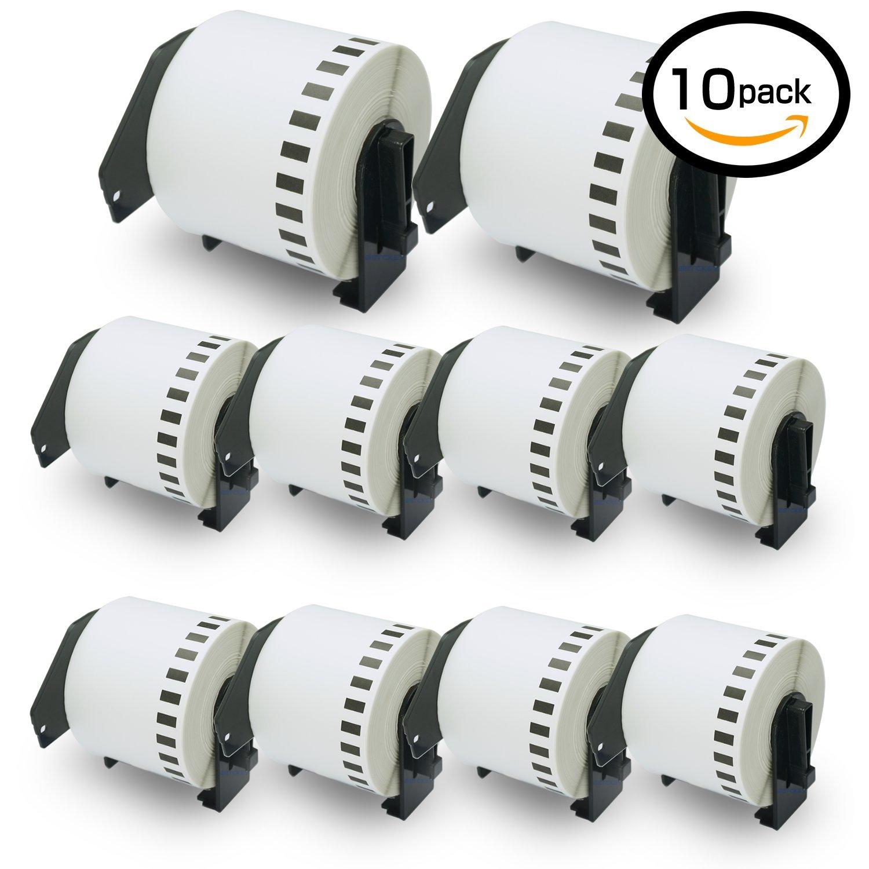 10巻セット ラベル (62mm x 30.48m) ブラザー工業 Brother 互換 DK-4205 再剥離(弱粘着タイプ) 感熱ラベルプリンター P-Touch QL