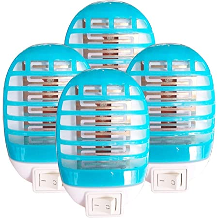 MOSKILA Bug Zapper 6 Packs Electronic Fruit Fly Zapper Bug Gnat Pest Mosquito Killer with UV Light Outdoor Indoor Non-Toxic Silent Effective Operation Mosquito Insects Killer Lamp for Backyard Patio