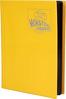 Monster Binder - 4 Pocket Trading Card Album - Matte Yellow (Anti-theft Pockets Hold 160+ Yugioh, Pokemon, Magic the Gathe...