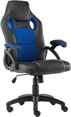 Deerhunter Silla de oficina giratoria con respaldo alto y respaldo alto y asiento de malla ajustable