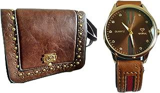 Kit Relógio Feminino Eura Original com Bolsa Couro Ecológica