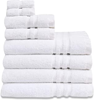 Eden Textile Hotel Bath Towel Set for AirBnB, Inns and Spas, Soft and Durable, 100% Cotton in White Patricia Set of 4 Bath...