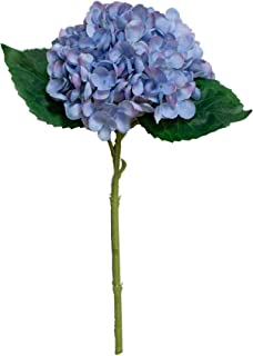 Red Co. Purple Blue Faux Silk Blooming Hydrangea Pick - 13 Inches