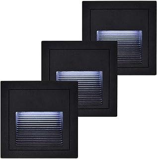 MR.3 Outdoor/Indoor Wall Lamps Step light 5W Aluminum waterproof 85v~265v Led stair light (White Colour/6500K, Black Body)