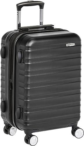 Amazon Basics Valise rigide à roulettes pivotantes de qualité supérieure avec serrure TSA intégrée, Taille cabine 55 ...