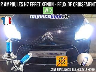 Pack Bombillas H7 blanco Xenon luz croisement-code para Citroen C3