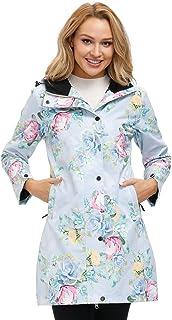 Women's Raincoat Hoodie Jacket Printed Waterproof Windbreaker Rain Coat Lightweight Mositure Wicking Active Outdoor Jackets