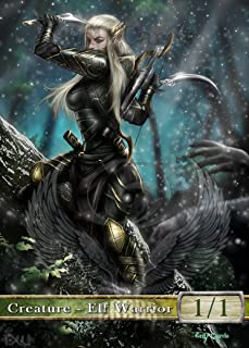 3x Elf Warrior #1 Custom Altered Tokens MTG