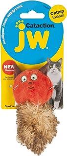 JW Cataction Catnip Squirrel Toy, Multicolor