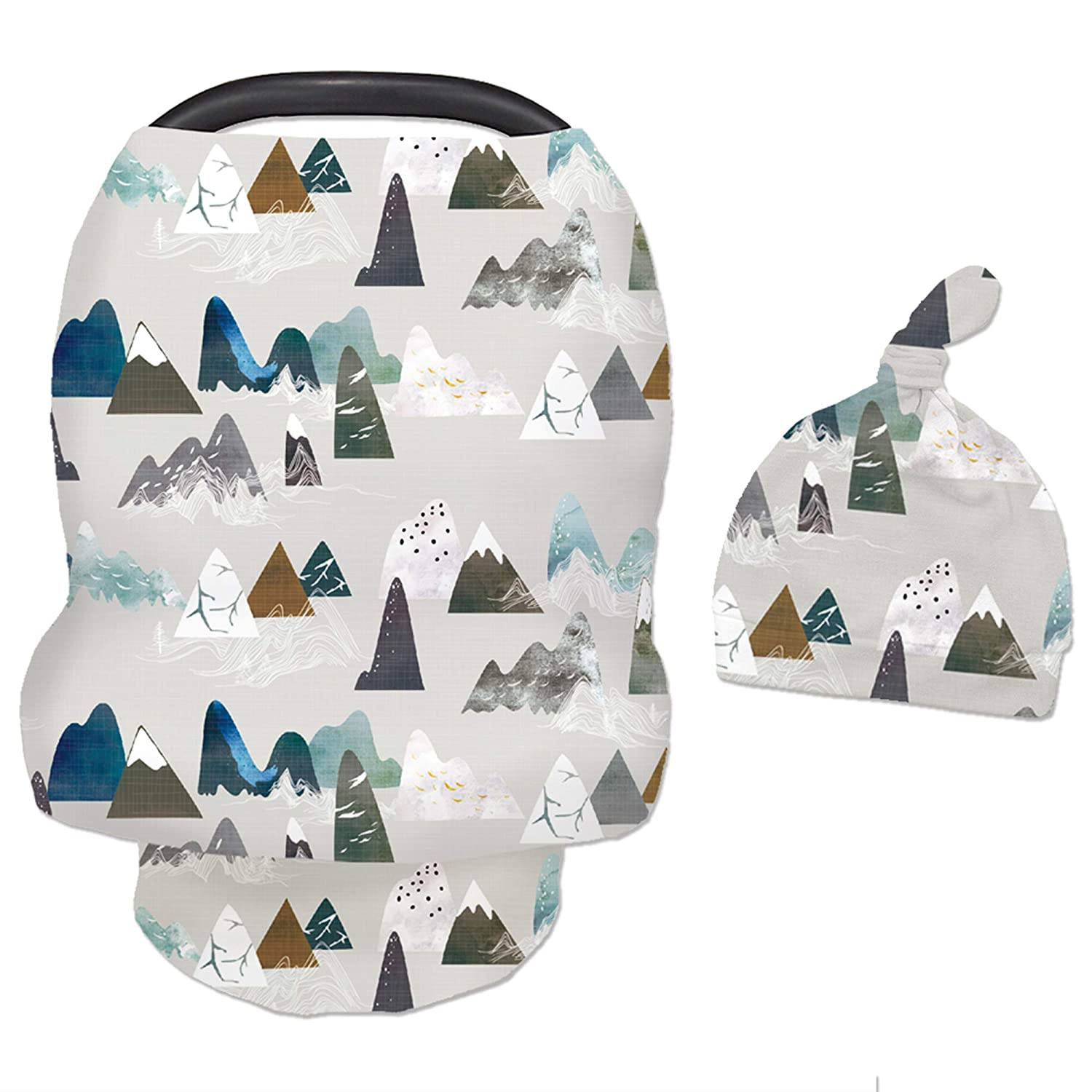Baby Carseat Cover with Beanie Adventure Mountain New York Mall Popular standard Infant Carsea
