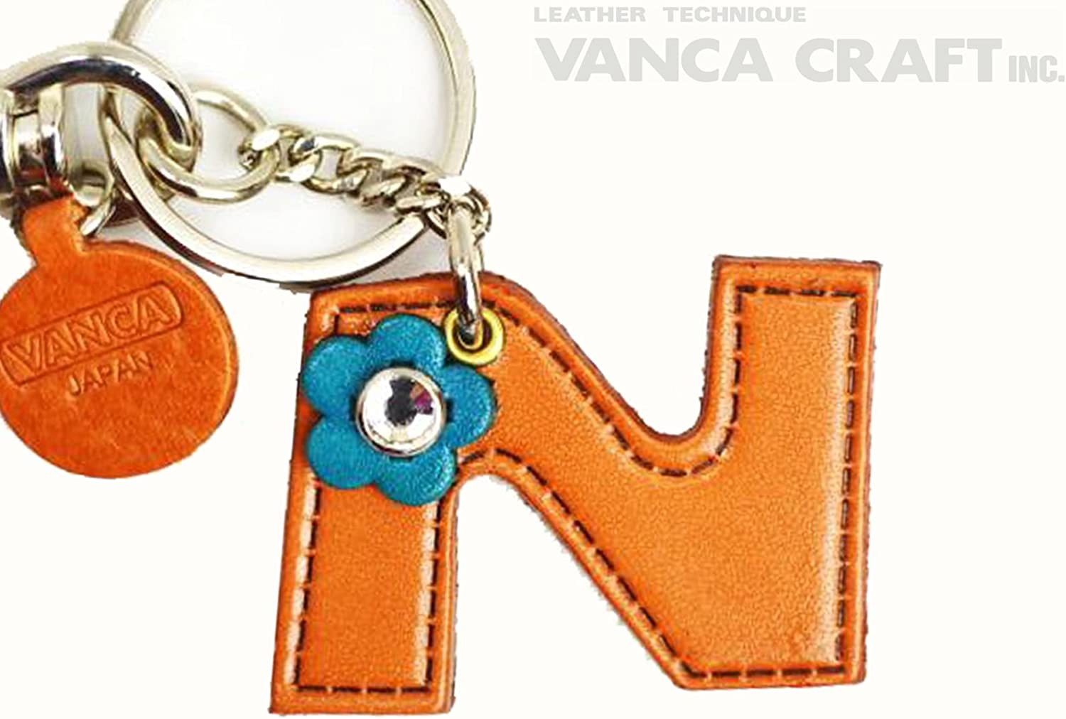 Genuine leather bag charm initial N [handmade made in Japan, new, craftsman] [VANCA] (japan import) B003R5R1C0 Moderater Preis  | Moderate Kosten