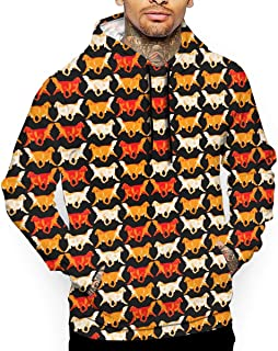 Unisex Trotting Golden Retrievers Hoodies Cute Pullover Hood Jackets Sweatshirt
