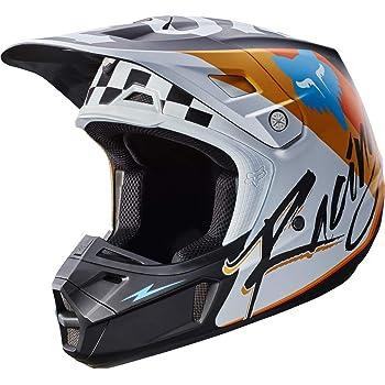 Black Medium 17374-001-M Fox Racing Rohr Adult V2 Motocross Motorcycle Helmets
