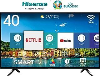 Hisense H40BE5500, Smart TV Full HD, 2 HDMI, 2 USB, Salida Óptica y de Auriculares, WiFi, Procesador Quad Core, Smart TV VIDAA U 2.5, Ethernet, color negro