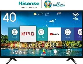 Hisense H40BE5500, Smart TV Full HD, 2 HDMI, 2 USB, Salida Óptica y de Auriculares, WiFi, Audio DBX, Procesador Quad Core, Smart TV VIDAA U 2.5, 802.11bgn,2.4G Ethernet RJ-45 HDMI USB, 40