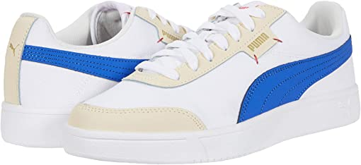 Puma White/Dazzling Blue/Tapioca/Puma Team Gold/Hot Coral
