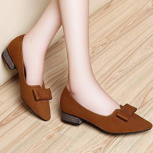 Fuxitoggo Arco Puntiagudo con mis zapatos de mi Madre zapatos zapatos Calzado Pedal zapatos (Color   Camello, tamaño   36)