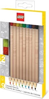 LEGO Colored Pencil With Brick Toppers