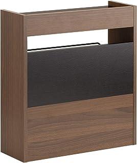 サンワダイレクト ケーブルボックス 木製 幅40cm 高さ45cm ケーブル ルーター 収納ボックス ダークブラウン 200-CB022DBRM
