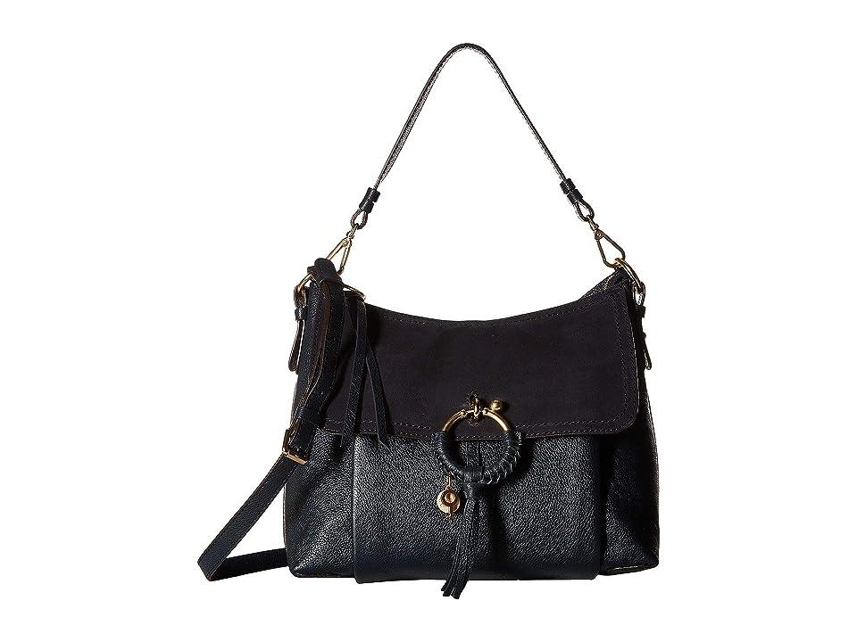 See by Chloe Medium Joan Suede Leather Shoulder Bag (Ultramarine) Shoulder Handbags
