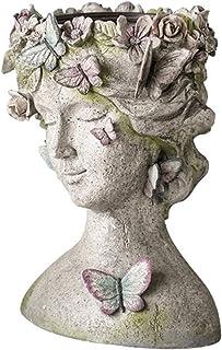 Garden Sculpture Outdoor Statues Butterfly Fairy God Statue Flower Pot Large Vase Figurines Home Living Room Outdoor Garde...
