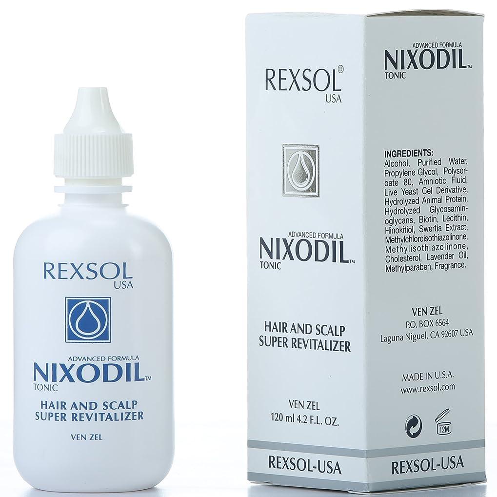 怠ほこりっぽい上へREXSOLニクソディルヘア&スカルプスーパーリバイタライザー| ライブ酵母細胞誘導体、ビオチン、レシチン、Swertia Extract&ラベンダーオイル| 毛の損失と刺激的な成長を防ぎます(120 ml / 4.2 fl oz)