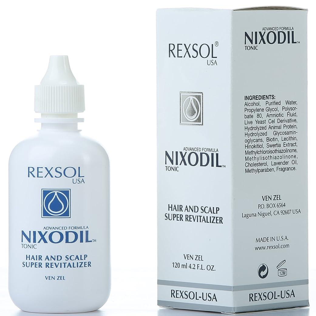 篭以降フィットREXSOLニクソディルヘア&スカルプスーパーリバイタライザー| ライブ酵母細胞誘導体、ビオチン、レシチン、Swertia Extract&ラベンダーオイル| 毛の損失と刺激的な成長を防ぎます(120 ml / 4.2 fl oz)