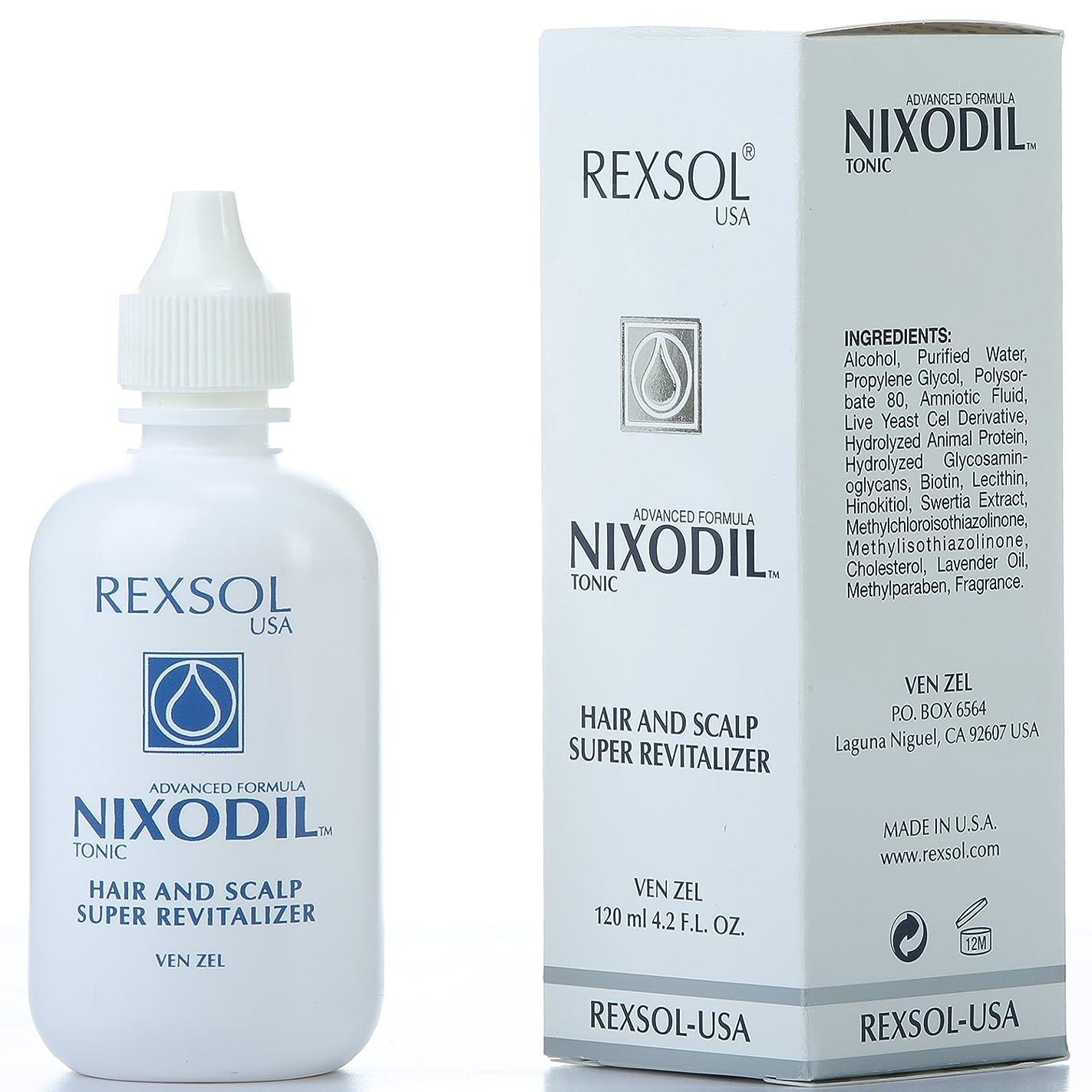 ピンポイント韓国語司法REXSOLニクソディルヘア&スカルプスーパーリバイタライザー| ライブ酵母細胞誘導体、ビオチン、レシチン、Swertia Extract&ラベンダーオイル| 毛の損失と刺激的な成長を防ぎます(120 ml / 4.2 fl oz)