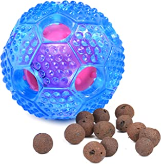 FULNEW IQ Treat Ball Interactive Dog Food Dispenser Durable Dog Chew Toy Ball for Dog Playing, Chewing, Tooth Cleaning