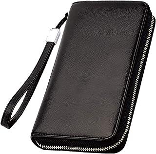 BLUE SINCERE 本革 通帳ケース 磁気防止 大容量 通帳入れ レディース RFID パスポートケース カードケース 小銭入れ 財布 TC2