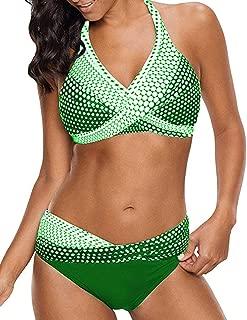 Bikinis Mujer 2020 Push up Sexy de Lunares de Playa Conjunto