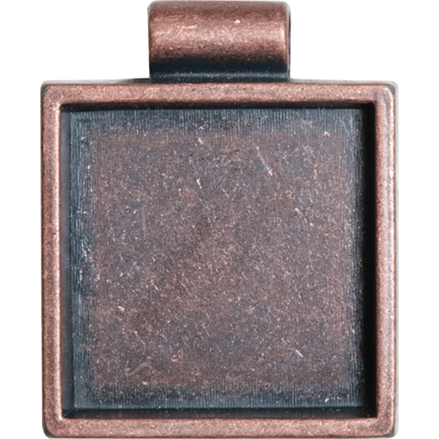 Lisa Pavelka Antique Copper Square Bezel Settings, Nickel and Lead Free, 1