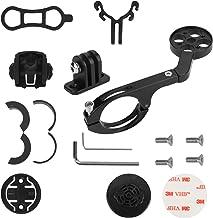 Soporte Extensor para Bicicleta para cámara Garmin Edge/Bryton Rider/CatEye/Gopro, con Soporte para Linterna y Soporte para teléfono (Negro)