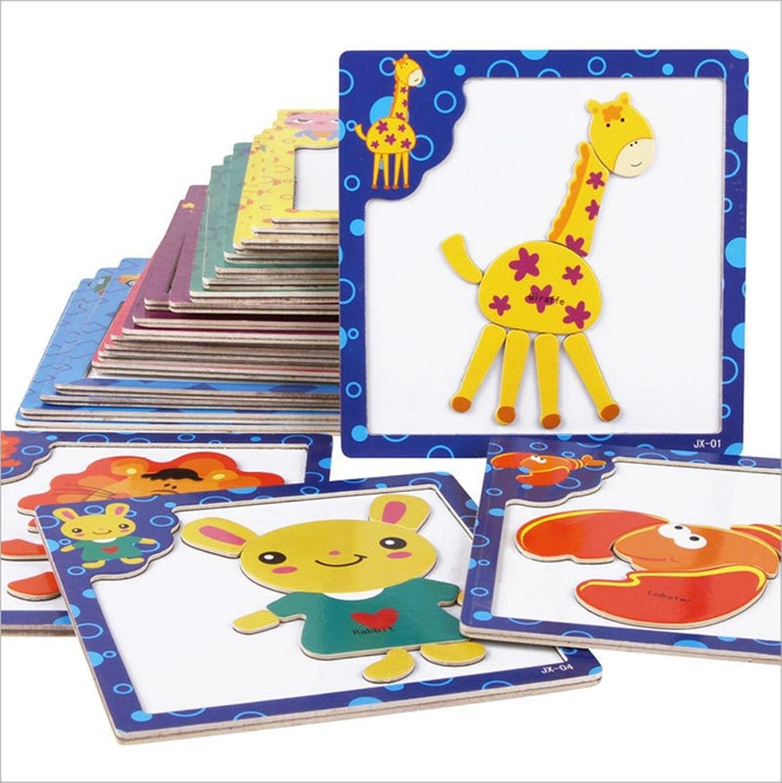 LDD Karikatur Holz magnetischen Puzzle, Reißbrett Baby frühen Ausbildung Puzzle Kinderspielzeug 3-4-5-6 Jahre alt (24 Modelle) B073YR6ZDL Erste Klasse in seiner Klasse     |  Neuer Markt
