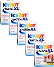 Special pack of 5 ICY HOT BACK PATCH XL 3 per pack