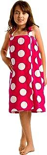 robesale Girls Bath Terry Cotton Wrap Shower Towel, Hot Pink, Medium Size 10